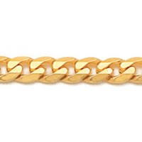 Corrente de Ouro Amarelo 18k Groumet 60 cm / 4 mm