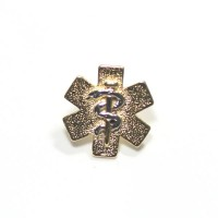 Bottom Broche Folheado a Ouro Medicina